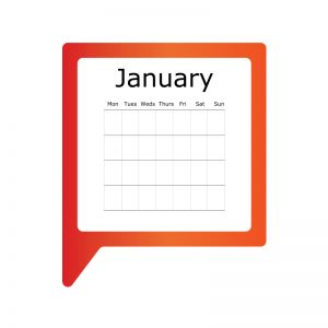 The Carrington COmmunications logo as a calendar page