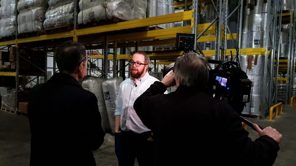 BBC East Midlands Today filming at SuperFOIL