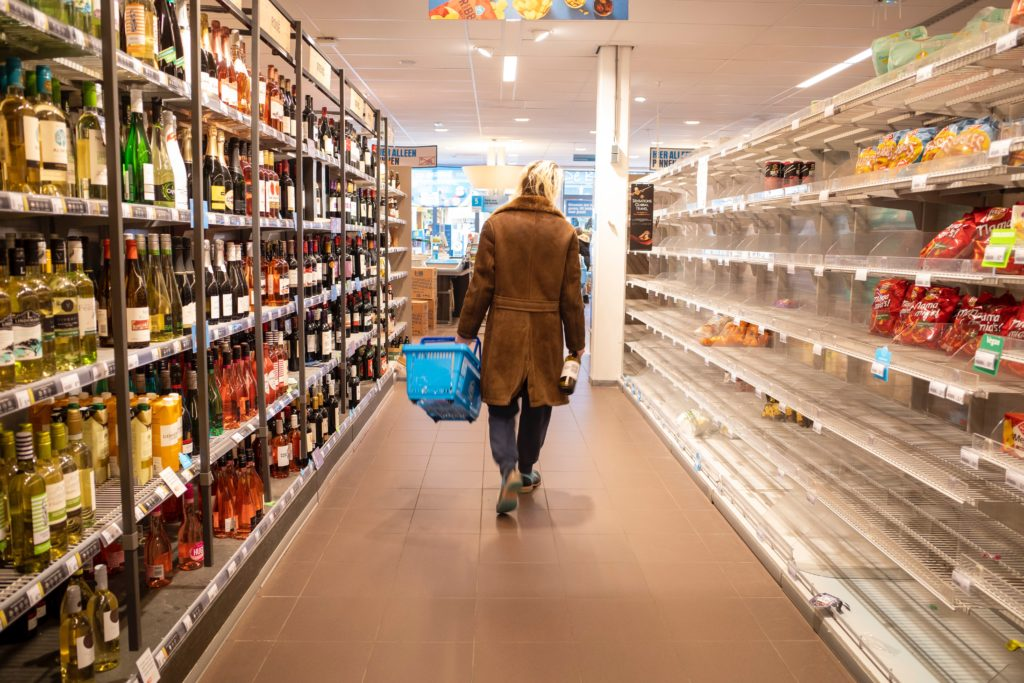 A supermarket during COVID-19