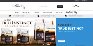 The PharmPet Co's online vet pharmacy website preview